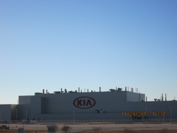 Drove past the KIA assembly plant outside Atlanta.