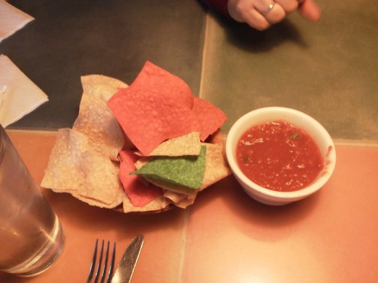 Excellent chips and salsa.  The salsa sneaks up on you, with heat that lingers long after the chips and salsa are gone.