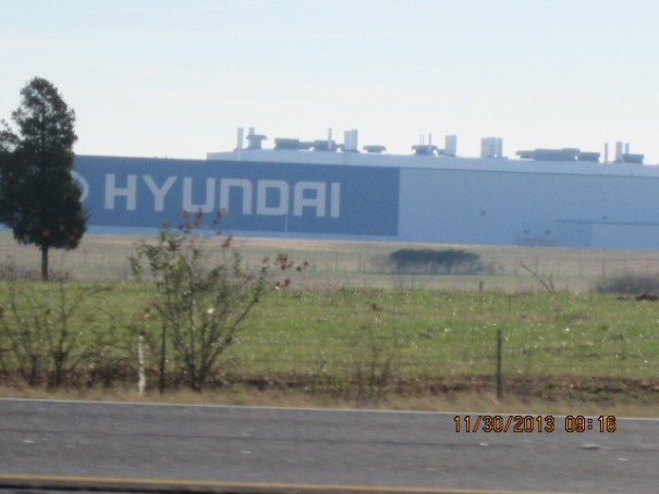 A Hyundai assembly plant out side Montgomery Alabama.