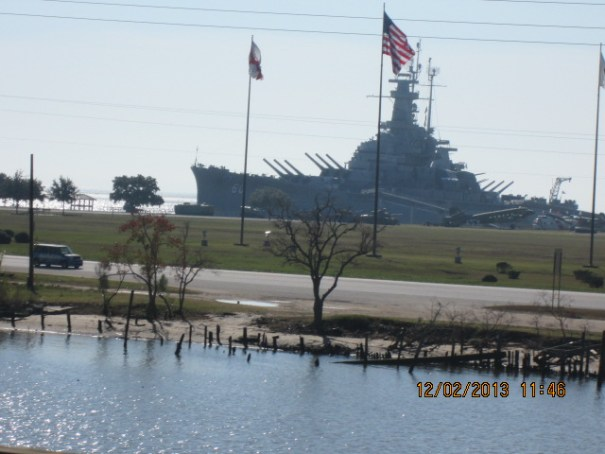 USS Alabama.  Too long a drive today to stop.  We left it for another day.