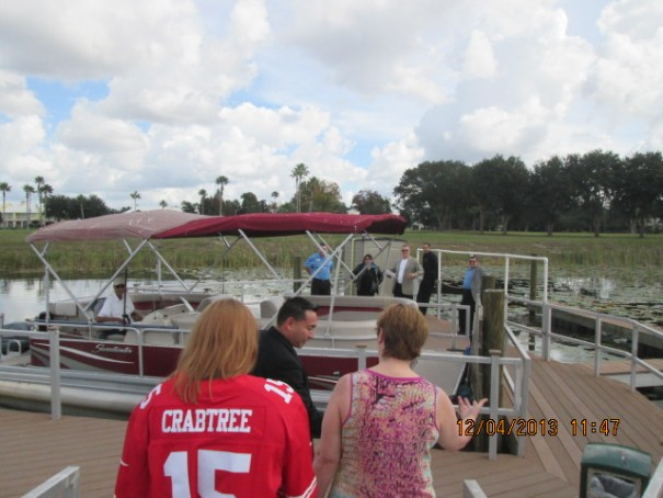 Our presenter, Patrick, with Edie and Lex going onto the boat.  Patrick was an extremely likable guy,