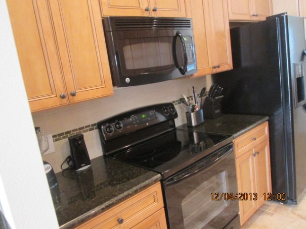 Granite and high end appliances.