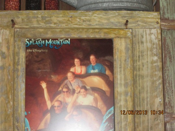 We took a picture of our picture at Splash Mountain.