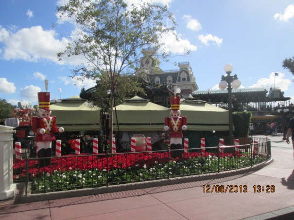 Disney World at Christmas.