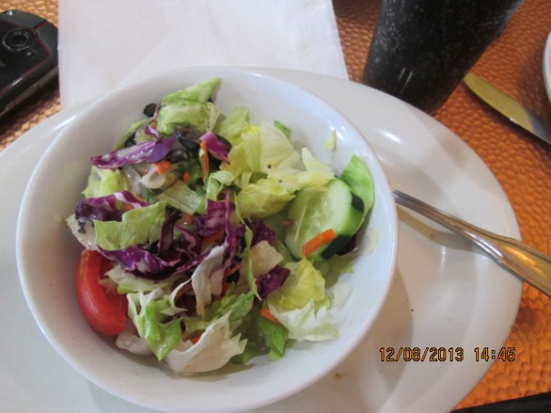 Edie's salad, which I ate along with my panini sandwich.
