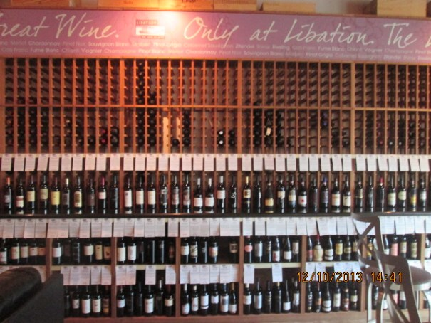 Lots of wine to choose from in this place.