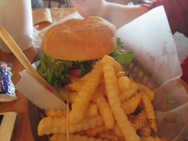 Lex's cheeseburger.