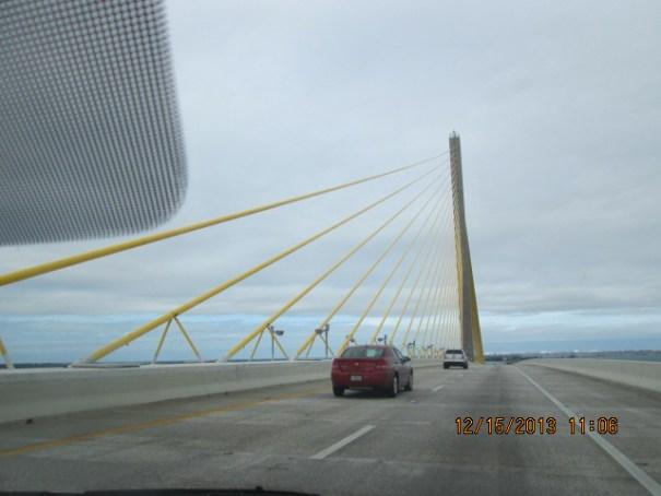 Bob Graham Sunshine Skyway Bridge is beautiful.  Sleek, high, modern, solid, neat.