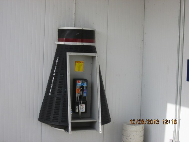 Space Capsule pay phone.