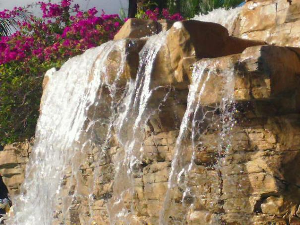 Neat waterfall at the pool.