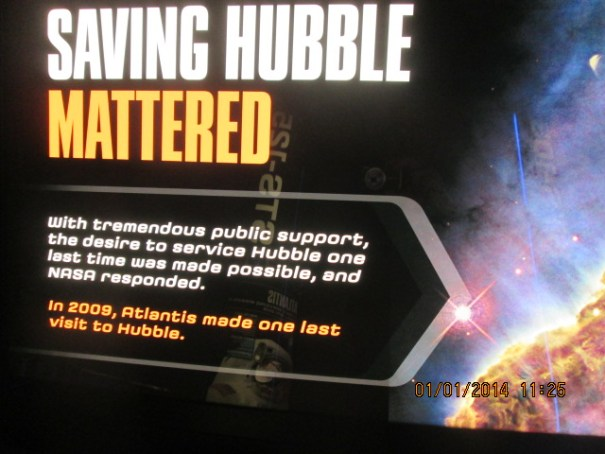 The shuttle Atlantis story is married to the Hubble rescue story and the museum properly displays both.