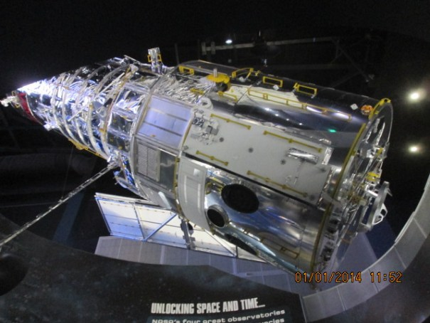 Mock up of the Hubble Telescope.