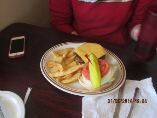 Lexie got a cheeseburger.