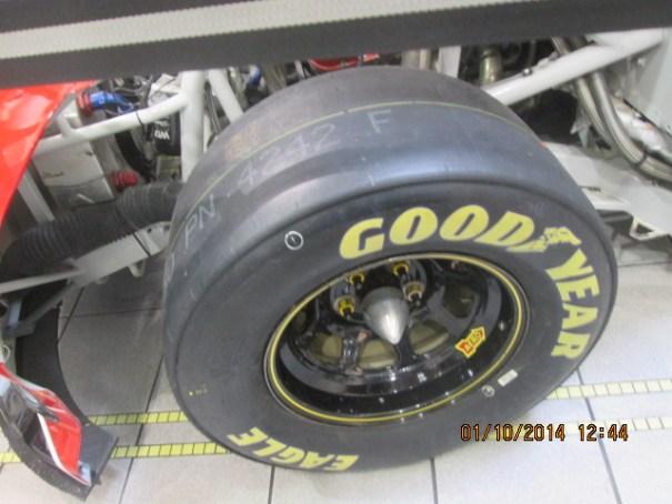 Race tire.