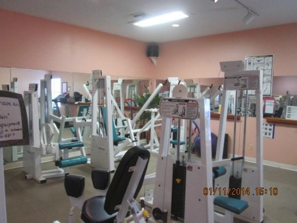 Nice workout room.