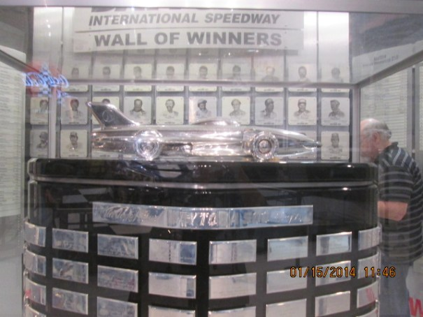 Trophy room, lots of engraving and etched photo's of past winners.