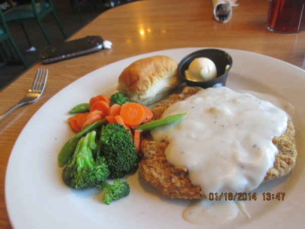 My chicken fried steak.  It has been years since I have had this.