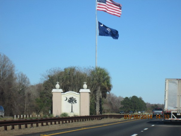 Crossing in South Carolina.