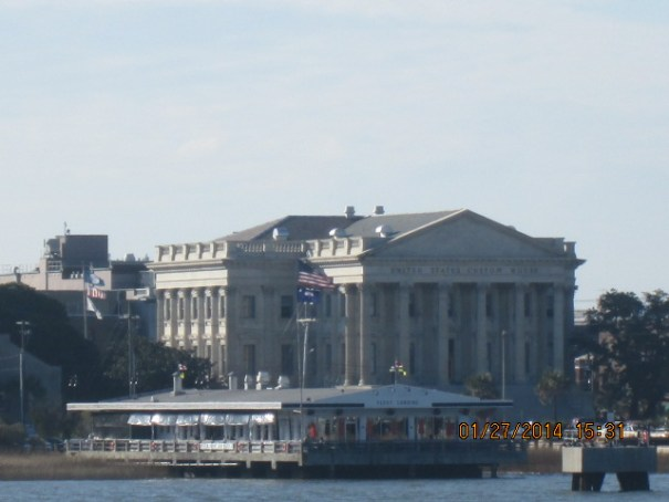 US Customs building viewed from the Ferry.