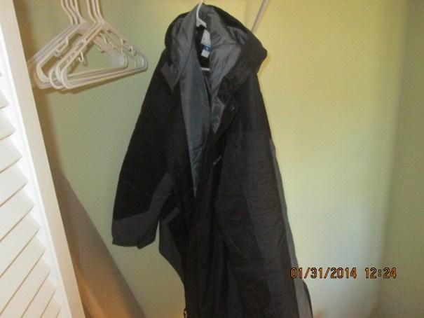 My new coat, very warm.