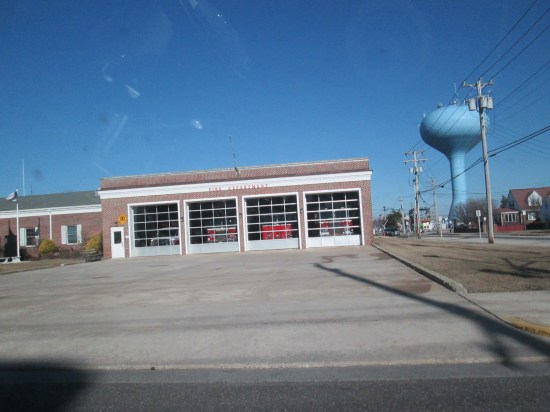 This firehouse is directly across the street from us.