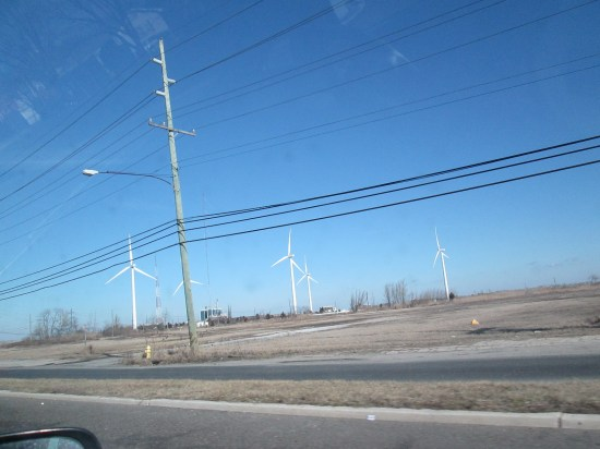 The wind mills were turning pretty good.