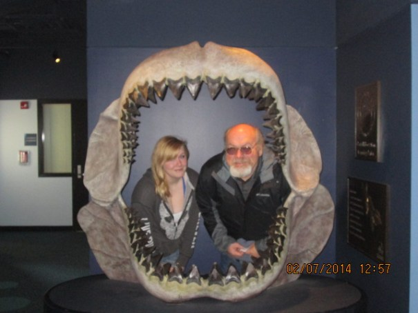 Dad and daughter in the jaws of death.