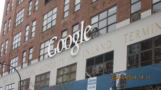 Before going into the Market, looking back at Google New York. Very different from Santa Clara.