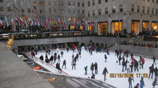 Rockefeller center ice rink.