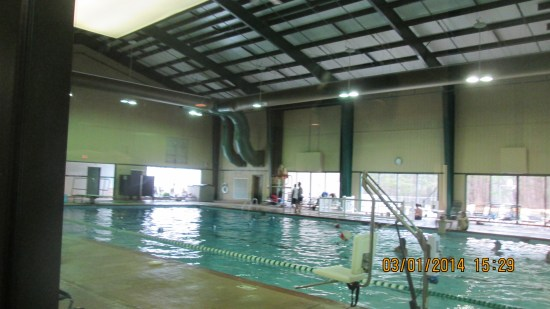 Olympic indoor pool.
