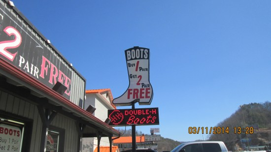 Interesting boot place.  Personally, I've just never been a cowboy boot guy.