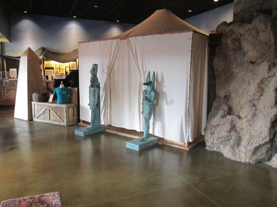Entrance to the experience.  They are trying to recreate Howard Carter's experience.
