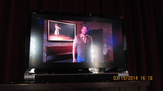 Blake Shelton on video telling us of the history of the Opry.