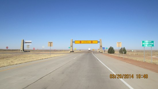 Welcome to New Mexico sign.