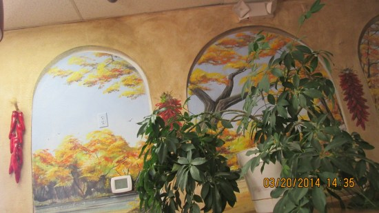 Nice murals painted on the inside walls.