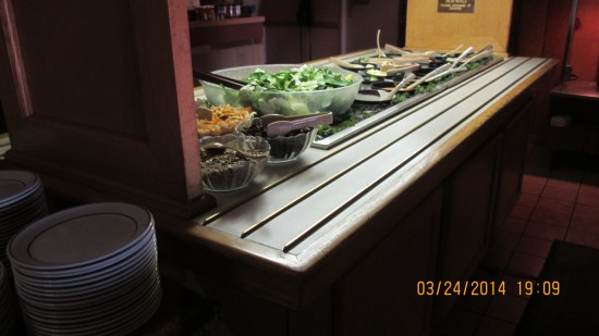 Lex and I had the all you can eat soup and salad bar.