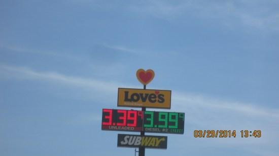 Gas, Love's.