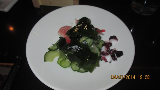 My cucumber salad.  It was very good.