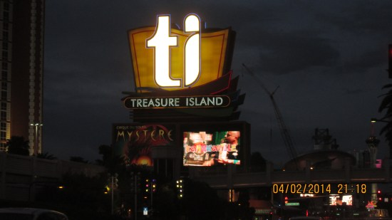 Our show is playing at Treasure Island.