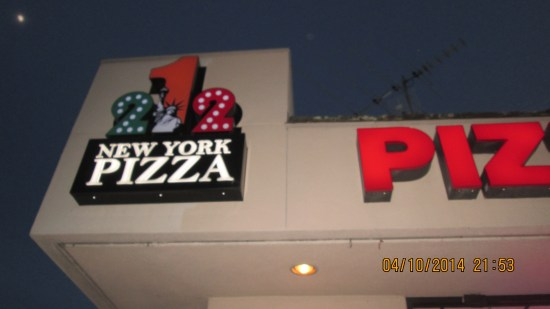 The first night we ended up at a New York Pizza place.  Nice place, but not like we had not so long ago in NY.
