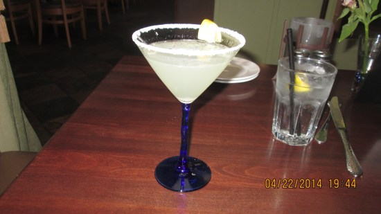 Edie had a Lemon Drop and said it was excellent.