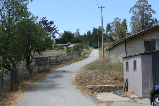 The driveway to our house is 400' long and uphill every step.