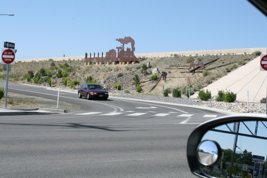 Really like the highway art in Nevada.