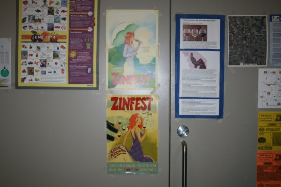 Fun posters on the wall.
