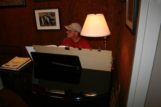 Tom, owner and 7th generation wine maker.  Plays a mean piano too.