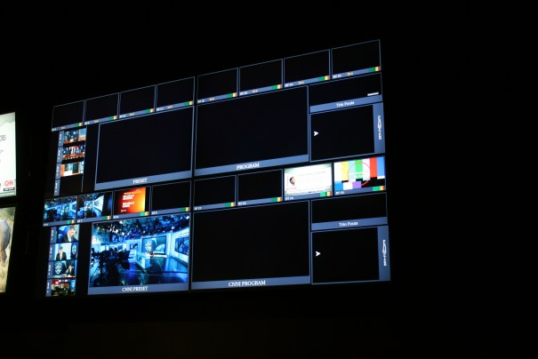 A miniaturized control room screen, we were given a quick overview on how it works.  Kinda killed the mystery.