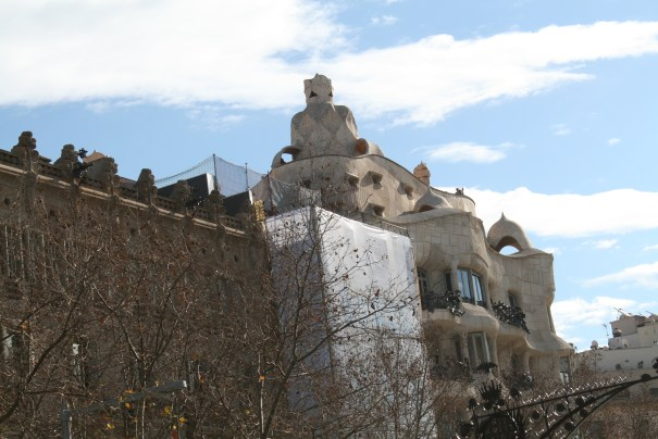 Antoni Gaudi, archetect, finished in 1910, Casa Mila (The first owner) meant to represent ocean waves and seaweed.