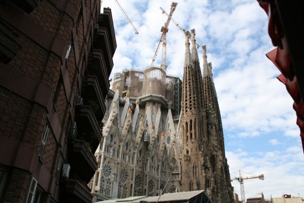 Antoni Gaudi's church called Sagrada Familia, started in 1880's, expected completion is 2026, 100 years after his death.