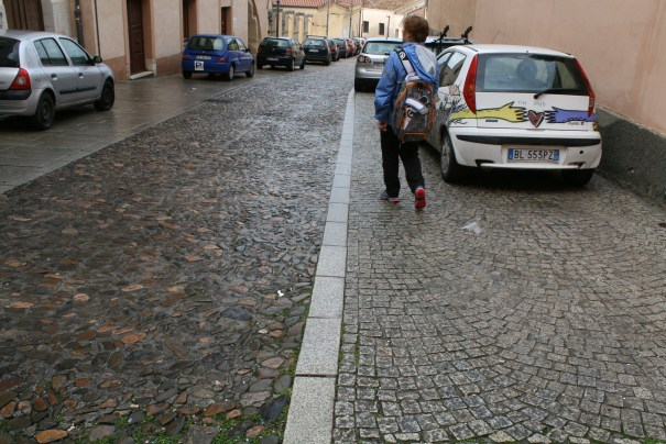 I really like the streets.  Cobble stones, river rock, blocks.  All done by hand and very aesthetically pleasing.