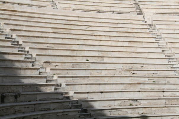 Marble seats.
